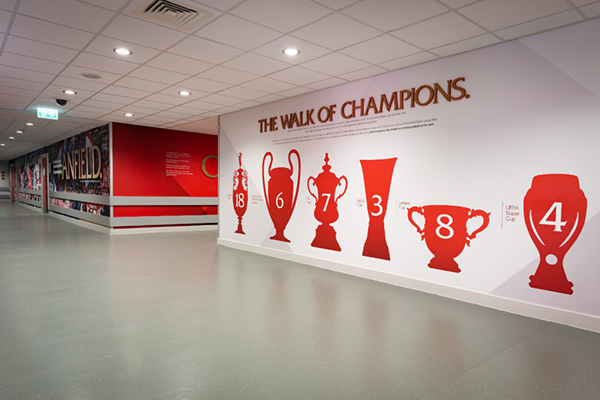 The Walk of Champions signage and wall graphics