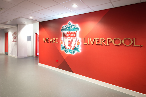 LFC club crest with wallpaper