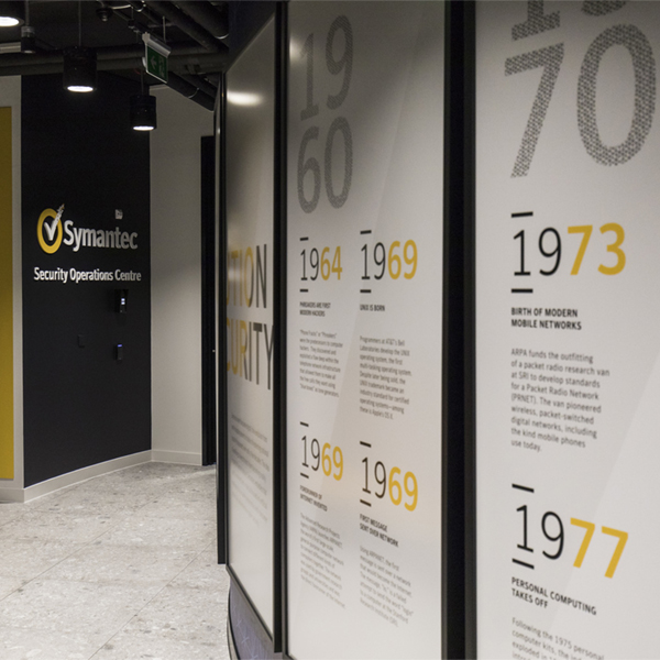 Symantec_timeline graphics and signage
