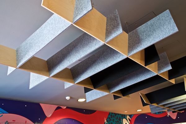 Acoustic ceiling waffle