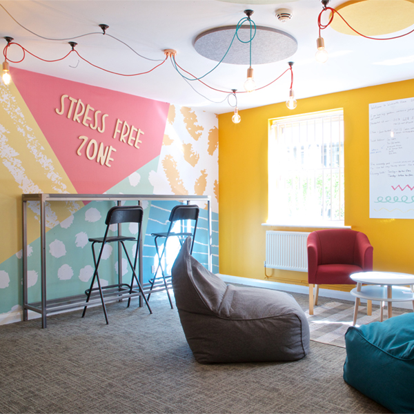 circular ceiling acoustics and wall graphics - ALTO Architectural Acoustic