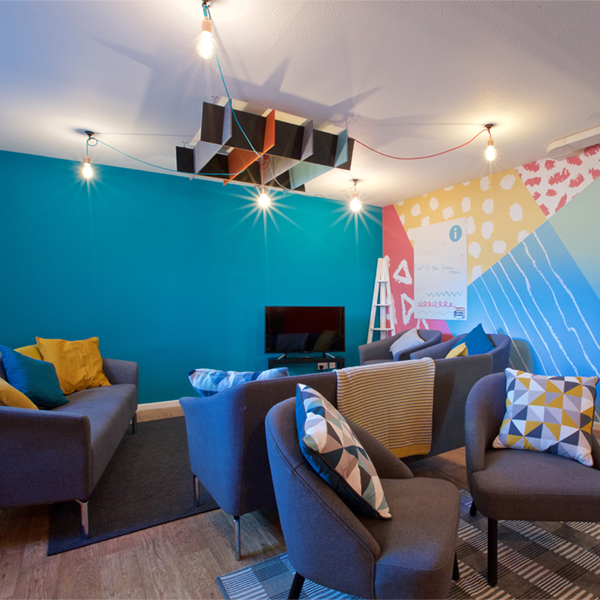 acoustic ceiling baffle and wall graphics - ALTO Architectural Acoustic